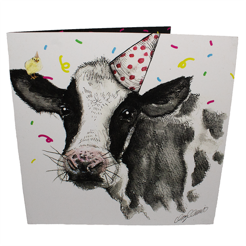 daisy the cow greetings card, sold by ethical fashion brand Viva La Vegan.