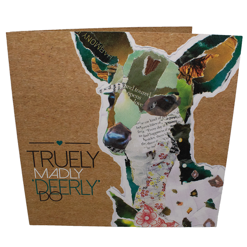 Vegan card : Truly Madly deerly do, sold by ethical fashion brand Viva La Vegan.