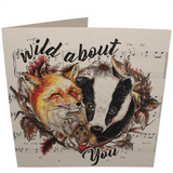 Wild About You. Vegan Card FRONT