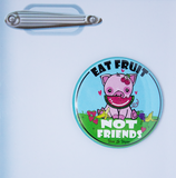 eat fruit not friends fridge magnet, sold by ethical fashion brand Viva La Vegan.