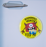 Vegan Magnet: Hummus Monsta Magnet, sold by ethical fashion brand Viva La Vegan.