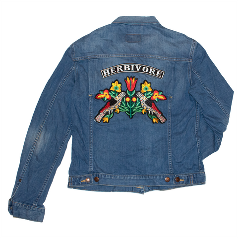herbivore reworked denim jacket, sold by ethical fashion brand Viva La Vegan.