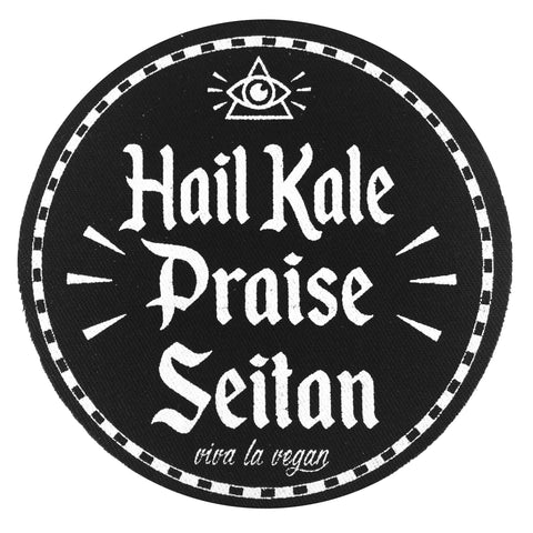 Hail Kale Praise Seitan patch, sold by ethical fashion brand Viva La Vegan.