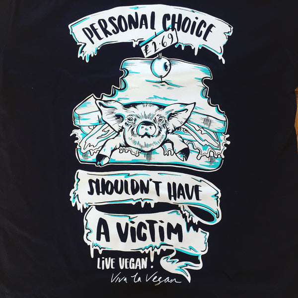 personal choice tshirt, sold by ethical fashion brand Viva La Vegan.