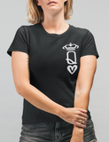 Women's Tshirt : Vegan Queen Of Hearts