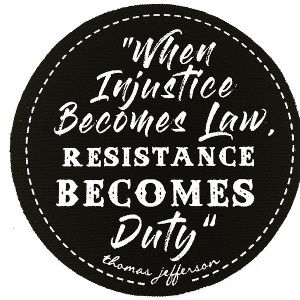 Resistance becomes duty, sold by ethical fashion brand Viva La Vegan.