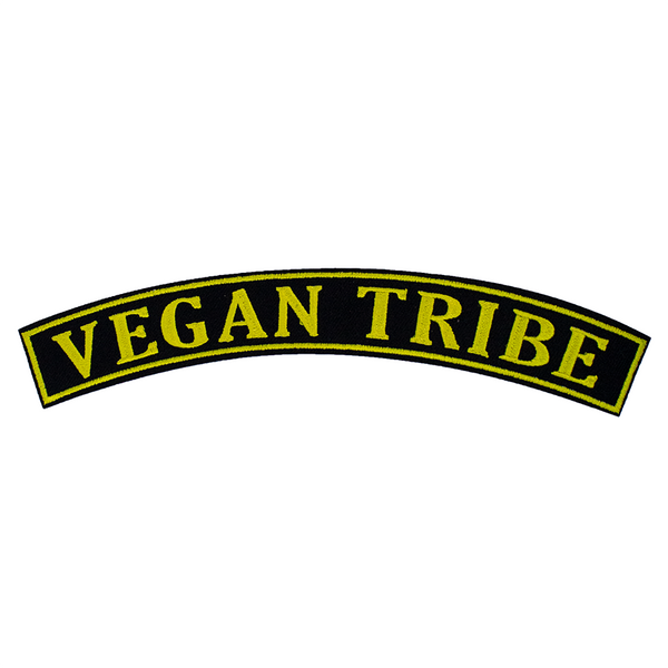 Vegan rocker patch, sold by ethical fashion brand Viva La Vegan.