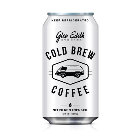 Nitro Cold Brew in a 12oz can - Glen Edith Coffee Roasters