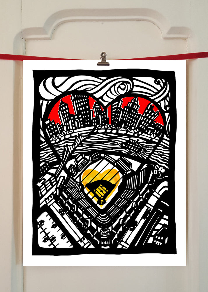 Print/  Pittsburgh Loves Baseball
