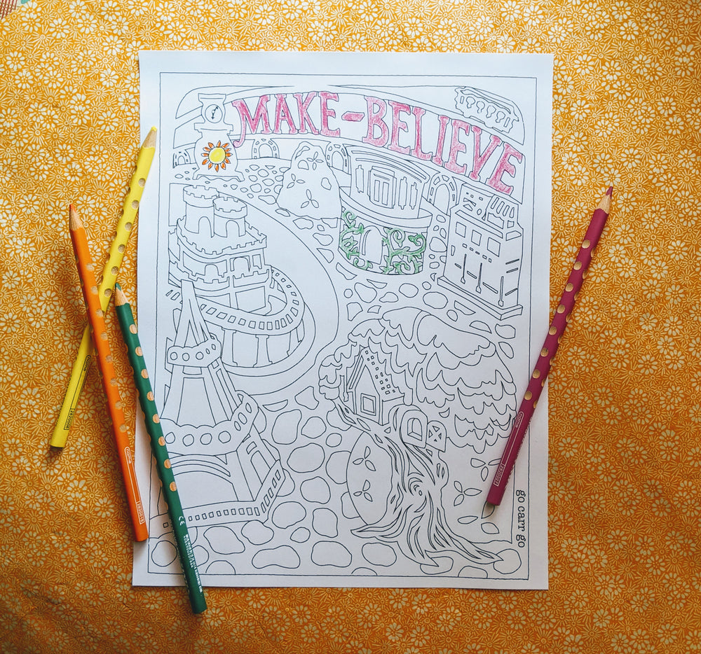 Make-Believe Coloring Page