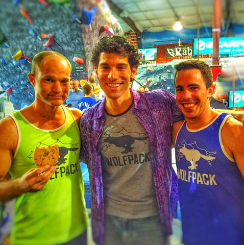 Brian Arnold, Noah Kaufman, and Ian Dory of the American Ninja Warrior Wolfpack