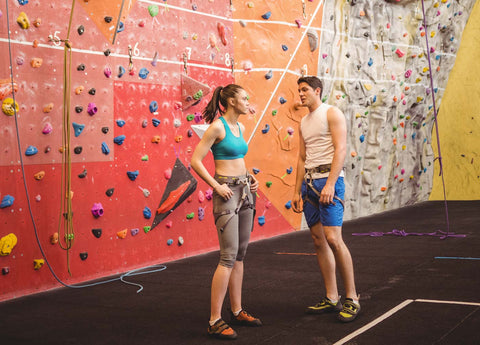 Two climbers on a date hitting it off