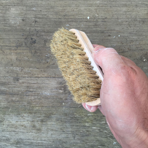 Palm Size brush for rock climbing