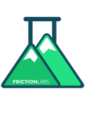 SheJumps / FrictionLabs partnership 10 oz bag plus 4 Sticker Pack