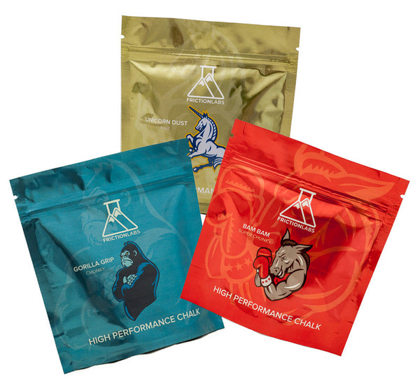 Element Climbing / FrictionLabs partnership Sample Pack plus 4 Sticker Pack