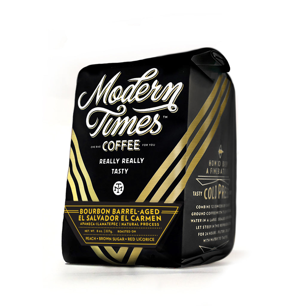 BOURBON BARREL-AGED EL SALVADOR EL CARMEN COFFEE BEANS (8oz BAG) - FEBRUARY 2021