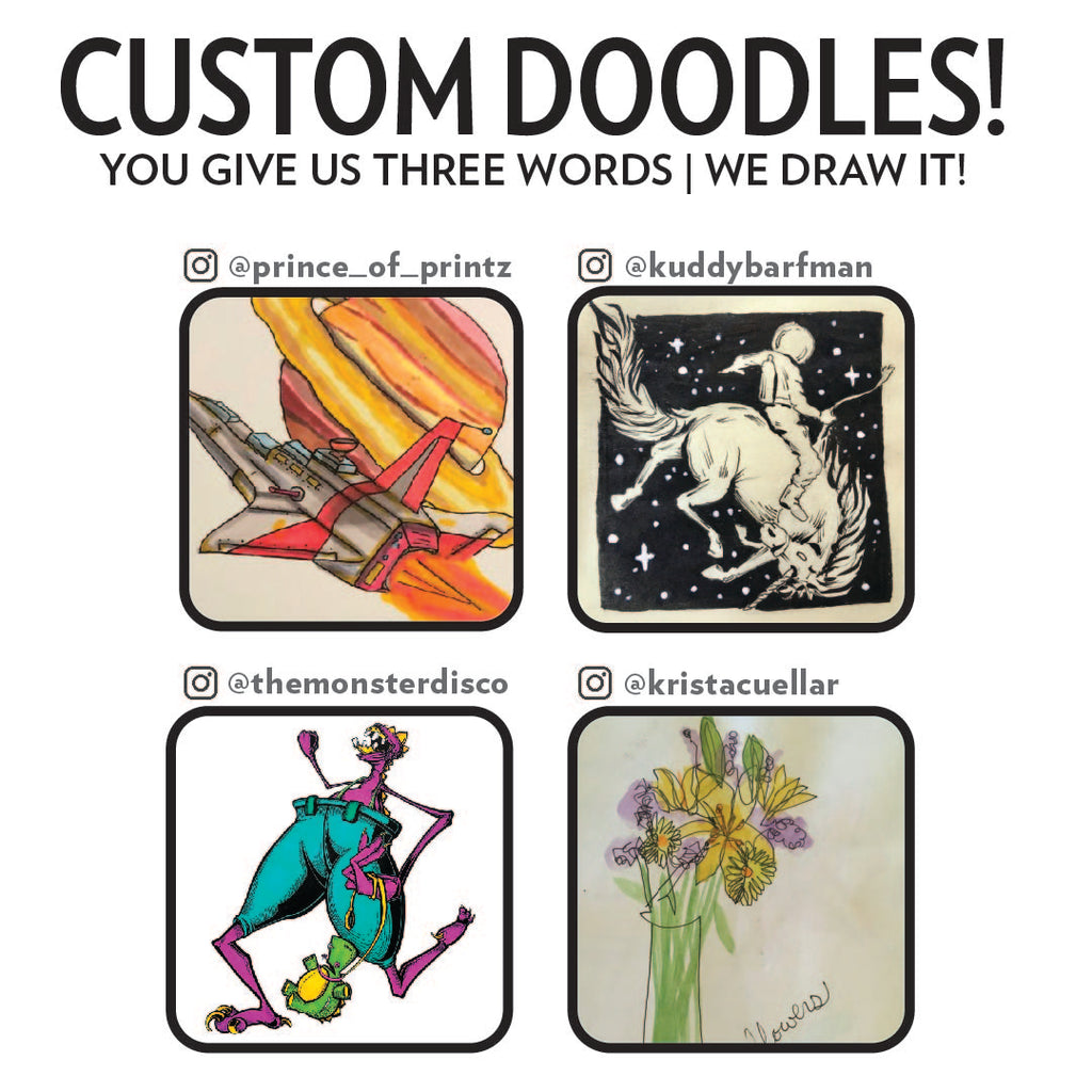 "Custom Doodles (click ""more details"" for instructions)"
