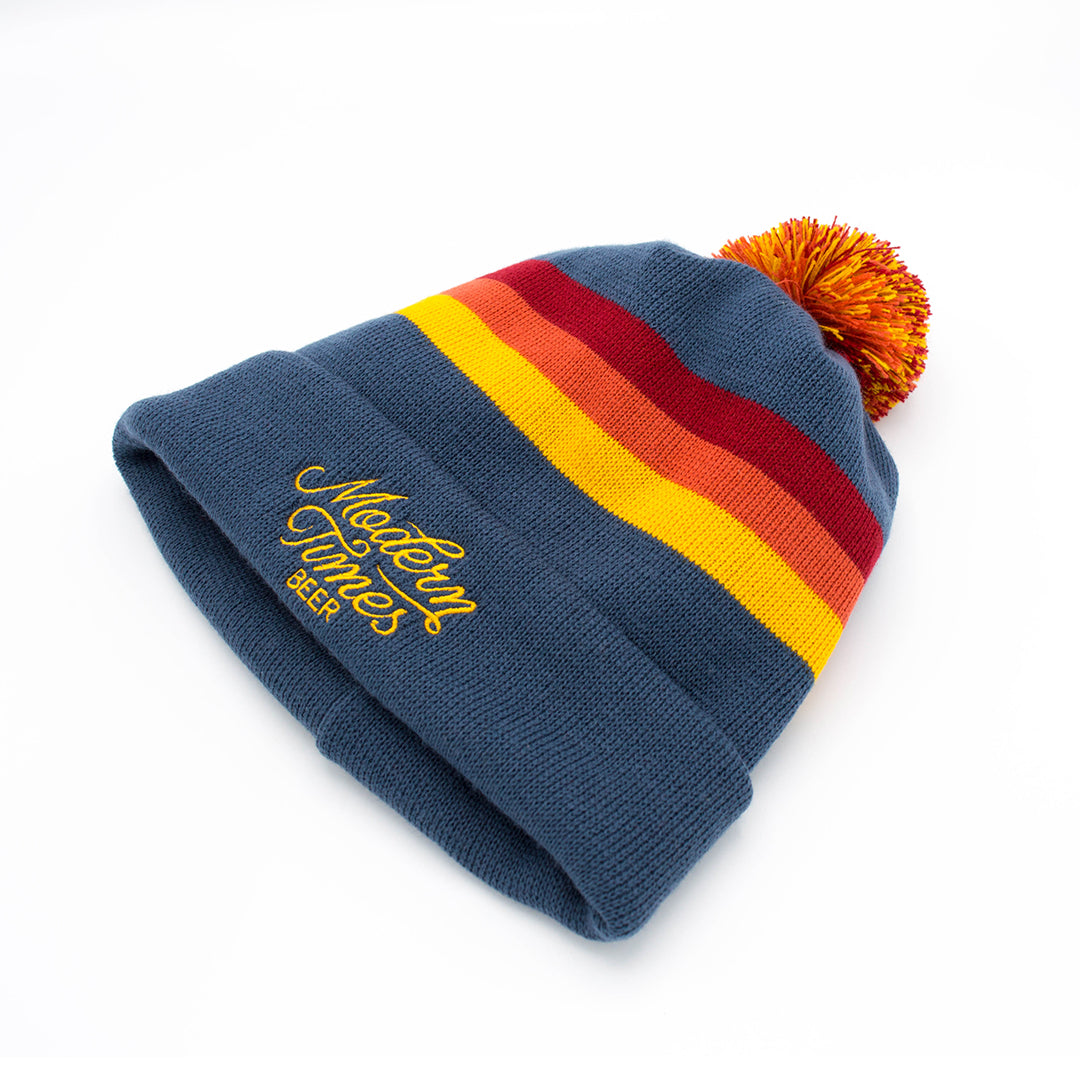 EMBROIDERED BEANIE WITH POM 626edfc4ceeb