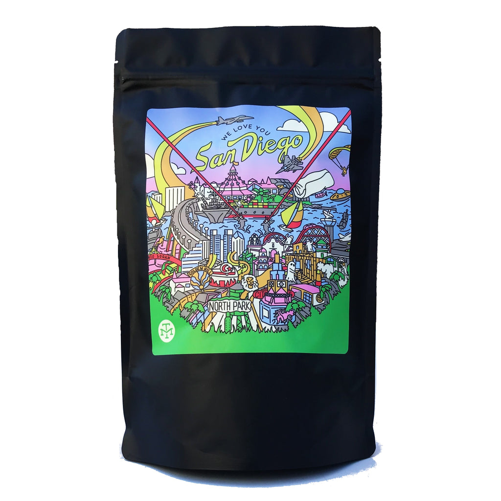 WE LOVE YOU SAN DIEGO COFFEE BEAN BLEND (12oz BAG) - OCTOBER 2020