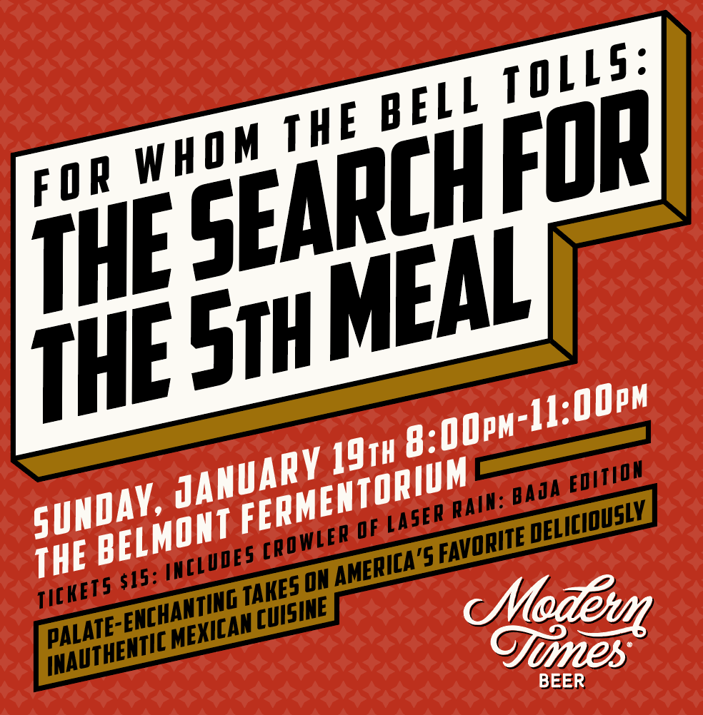 FOR WHOM THE BELL TOLLS: THE SEARCH FOR THE 5TH MEAL  - PORTLAND! 1/19/20