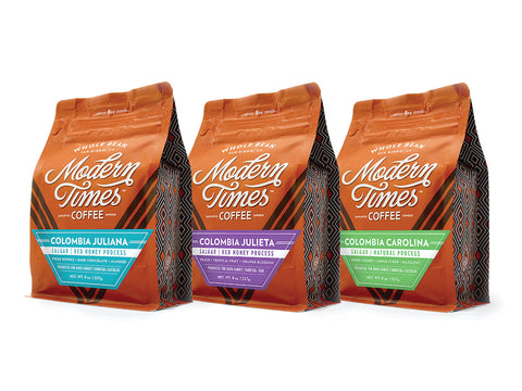 DIRECT-TRADE COLOMBIA COFFEE BEAN 3-PACK (8oz PER BAG)