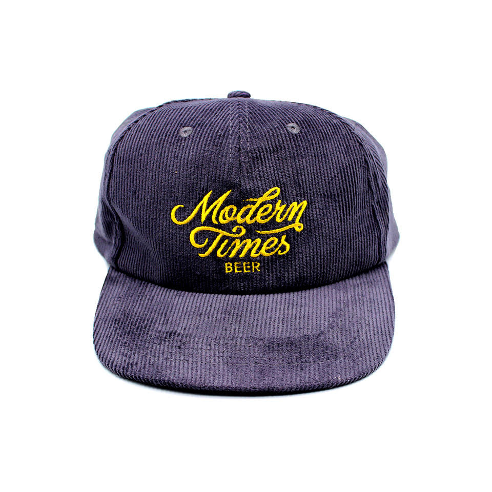 GREY CORDUROY 6-PANEL