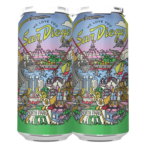 WE LOVE YOU SAN DIEGO DIPA (1 x 4-PACKS OF 16oz CANS) *SHIPPING IN OR ONLY