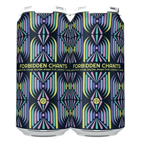 FORBIDDEN CHANTS W/ PASSION FRUIT, ORANGE, KEY LIME, DRAGON FRUIT, COCONUT, & VANILLA (1 x 4-PACKS OF 16oz CANS) *SHIPPING IN CA ONLY