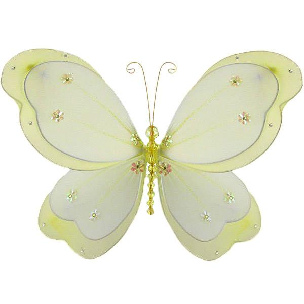 Yellow Chloe Butterfly Bedroom Decor