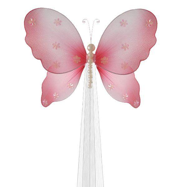 Pink Butterfly Curtain Holdaback