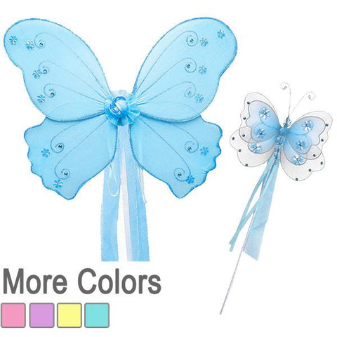 Butterfly Fairy Wing and Wand Set