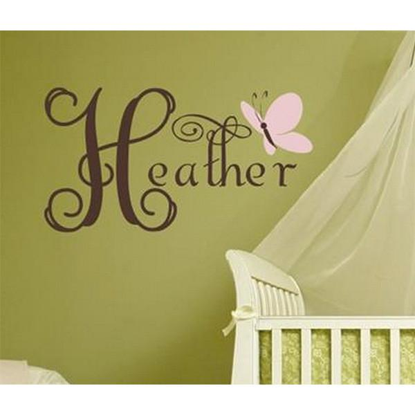Personalize butterfly wall decal