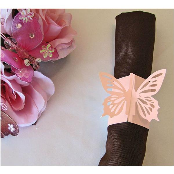 Pink Butterfly Napkin Ring