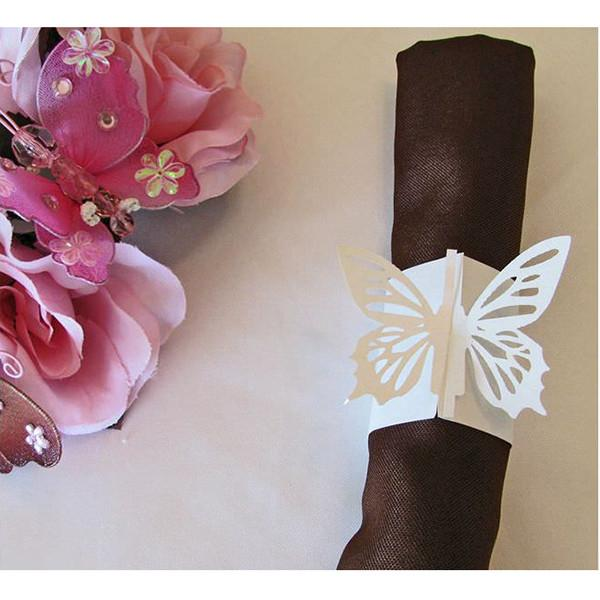 White Butterfly Napkin Ring