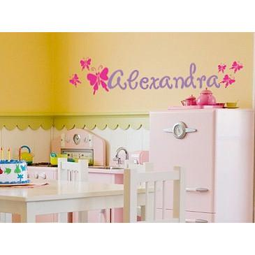 Personalized Butterfly Garden Wall Decal
