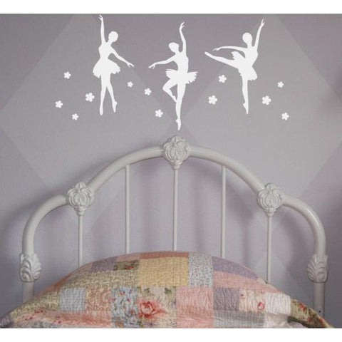 Dancing Ballerinas Wall Decal