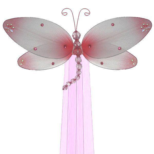 Pink Taylor Dragonfly Curtain Ties