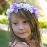 Purple Fairy Head Wreath