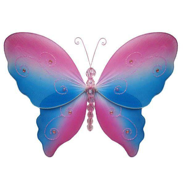 Pink and Blue Serenity Butterfly Decor