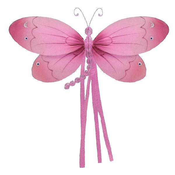 Pink Riley Hanging Dragonfly Decoration