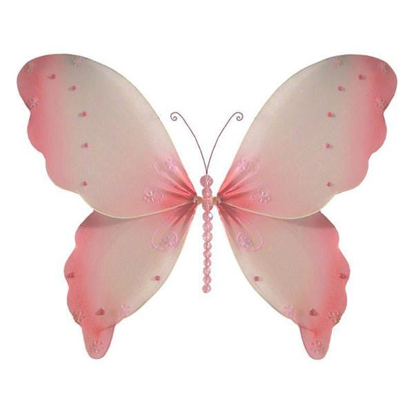 Pink Hanging Nylon Butterfly