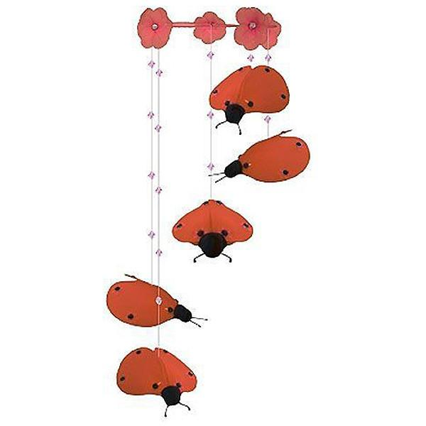 Red Ladybug Nursery Mobile