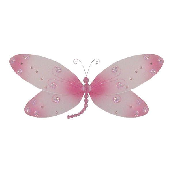 Pink Hanging Dragonfly Decoration