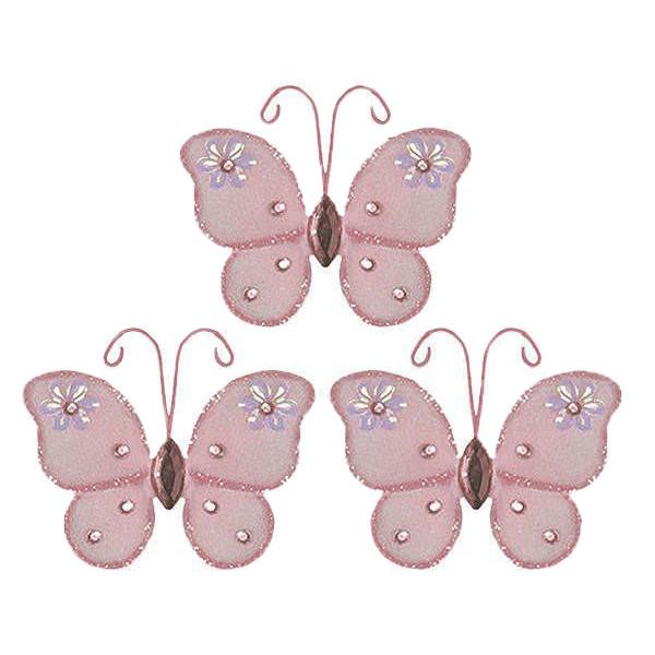 Pink Mini Butterfly Wedding Decorations