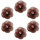 Pink and Brown Katie Mini Flower Decorations