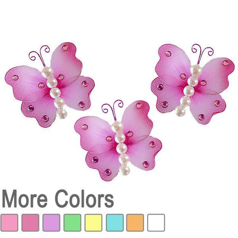 Pearl Butterfly Decorations