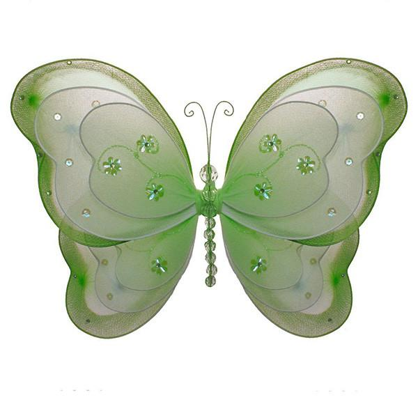 Green Nylon Butterfly