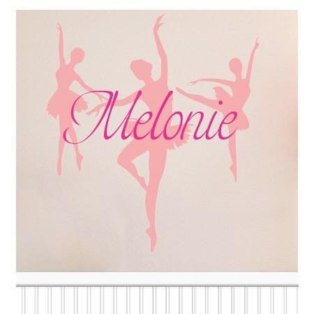 Personalized Dancer vinyl wall decal