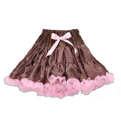 Pink and Brown Polka Dot Pettiskirt