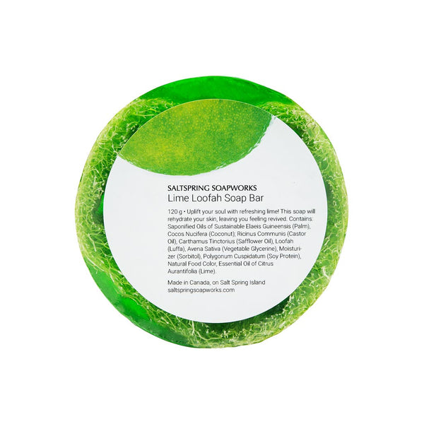 Lime Loofah Soap Bar